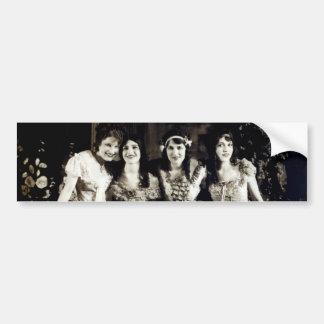 1920 novias sonrientes pegatina para auto