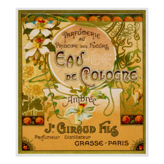1920 Principe des Fleurs perfume Poster