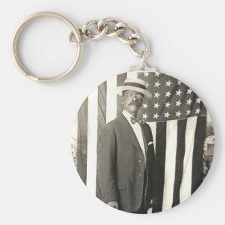 1920 Proud American Gentleman Basic Round Button Keychain