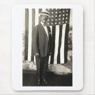 1920 Proud American Gentleman Mouse Pad