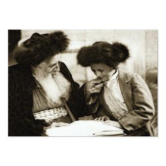"""1920 que estudia el Torah, sepia entonada Invitación 5"""" X 7"""""""