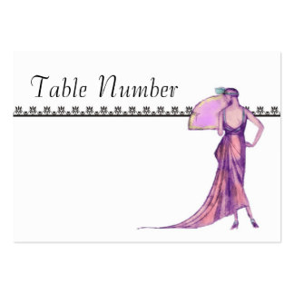 1920 s Art Deco Table Number Cards Business Cards