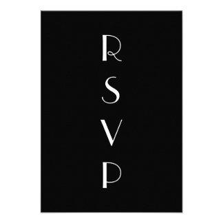 1920 s Black White RSVP Custom Announcements