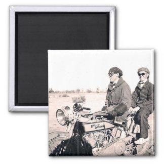 1920 s Men Riding Motorcycle Magnet