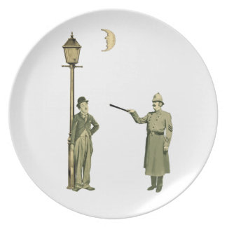 1920 s Movie Star and Police Man Party Plates