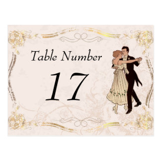 1920 s Vintage Table Number Cards Post Card