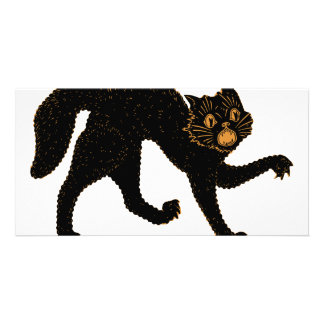 1920 Scary Black Cat Card