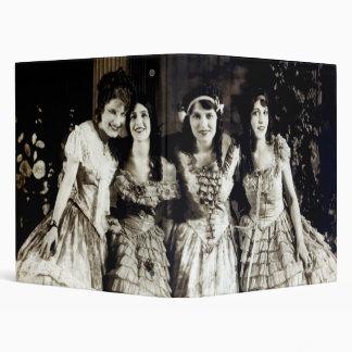 1920 Smiling Girlfriends 3 Ring Binder