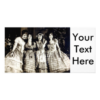 1920 Smiling Girlfriends Card