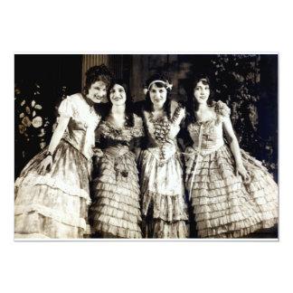 "1920 Smiling Girlfriends 5"" X 7"" Invitation Card"