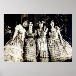 1920 Smiling Girlfriends Print