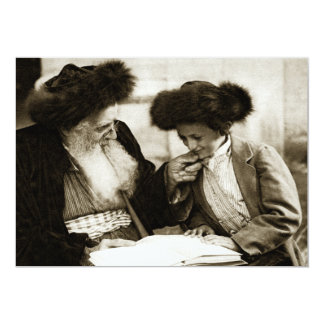 1920 Studying the Torah, sepia toned Card