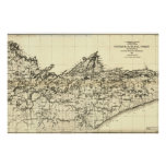1920 Superior National Forest Map Poster
