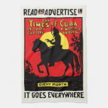 1920 The Times of Cuba Kitchen Towel