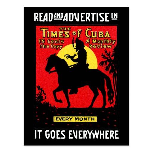 1920 The Times of Cuba Postcard