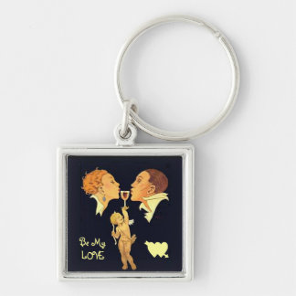 1920 valentine kiss keychain