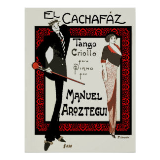 1920 Vintage Caricature Argentina Sheet Music Posters