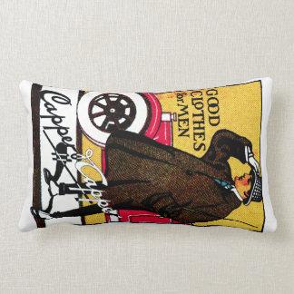 1920 Vintage Men's Clothing Lumbar Pillow