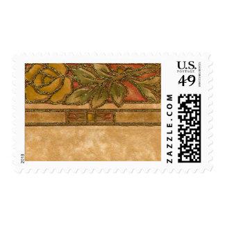 1920 Wallpaper Floral Border Card (16) Postage Stamps