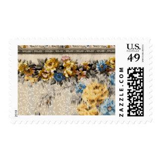 1920 Wallpaper Floral Border Card (26) Stamp
