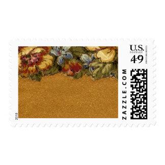 1920 Wallpaper Floral Border Card (27) Postage