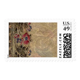 1920 Wallpaper Floral Border Card (28) Stamp