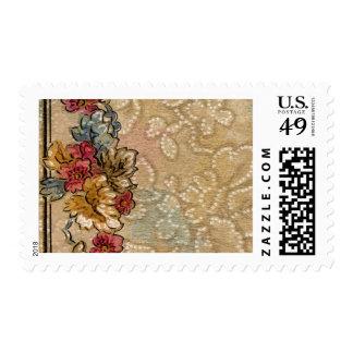 1920 Wallpaper Floral Border Card (31) Postage