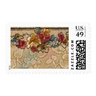 1920 Wallpaper Floral Border Card (32) Stamp