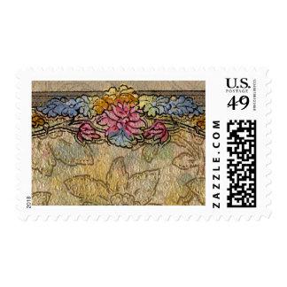 1920 Wallpaper Floral Border Card (33) Postage Stamps
