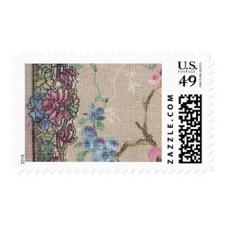 1920 Wallpaper Floral Border Card (34) Postage Stamps