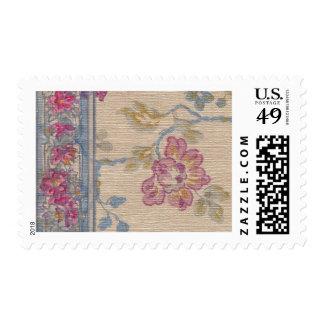 1920 Wallpaper Floral Border Card (35) Postage