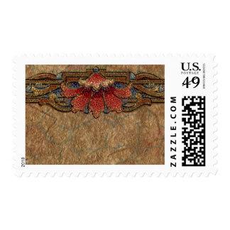 1920 Wallpaper Floral Border Card (36) Postage