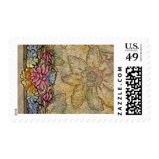 1920 Wallpaper Floral Border Card (37) Stamps