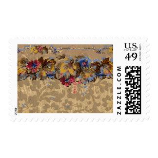 1920 Wallpaper Floral Border Card (38) Stamp