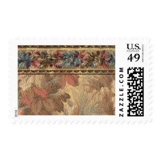 1920 Wallpaper Floral Border Card (41) Stamp