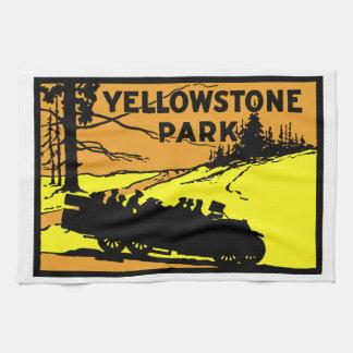 1920 Yellowstone Park Kitchen Towel