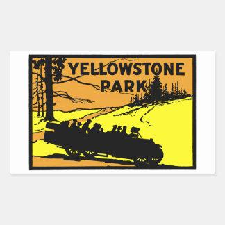 1920 Yellowstone Park Rectangular Sticker