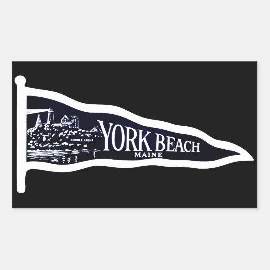 1920 York Beach Maine, dark blue Rectangular Sticker