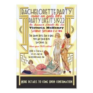 1920's  Art Deco Bachelorette Party Card