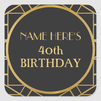 1920's Art Deco Birthday Gatsby Address Stickers