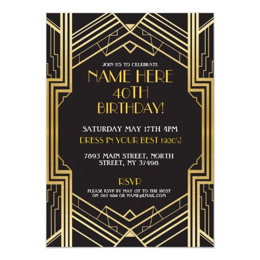 Invitation Black Art Template 32