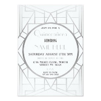 1920's Art Deco Birthday Quinceanera Gatsby Party Card