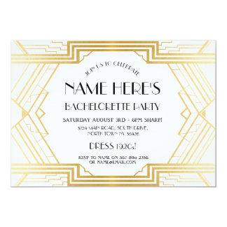 1920's Art Deco Bridal Shower Bachelorette Party Card