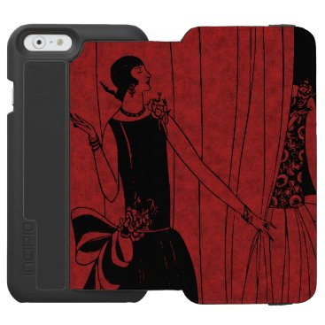 1920s Art Deco Fashion Show Model Red iPhone 6/6s Wallet Case