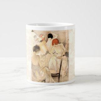 1920s Art Deco ~ Girls in the Dressing Room Jumbo Mugs