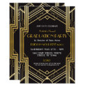 1920s Art Deco Graduation Invite Gatsby Party Gold