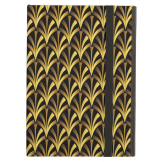 1920's Art Deco Style Fan Pattern in Black & Gold iPad Air Cover