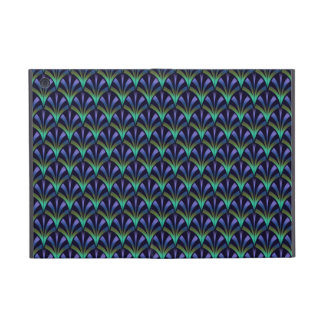 1920s Art Deco Style Fan Pattern in Peacock Colors Cover For iPad Mini