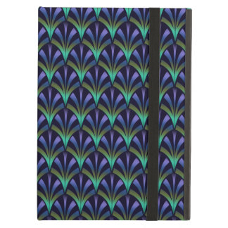 1920s Art Deco Style Fan Pattern in Peacock Colors iPad Air Case