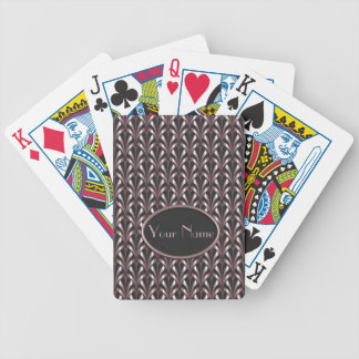 1920's Art Deco Style Fan Pattern in Pink & Grey Bicycle Playing Cards